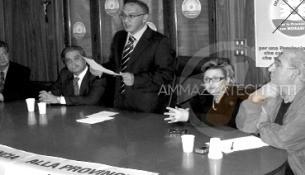 Domenico Crea, Giuseppe Sera e Maria Grazia Laganà vedova Fortugno in campagna elettorale nel 2006