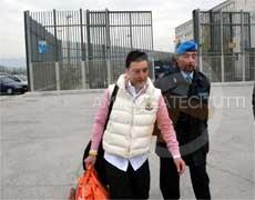 Giuseppe Salvatore Riina all'uscita del carcere