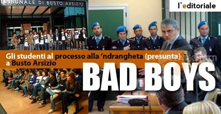 Gli studenti al processo alla 'ndrangheta (presunta) a Busto Arsizio
