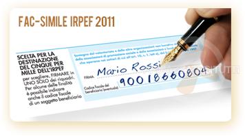 FAC-SIMILE IRPEF 2010 - Sostegno alle organizzazioni di volontariato...