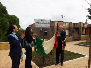 """Legalita'. Intitolata piazza a Giudice Scopelliti. """"Finalmente in Calabria non c'è più paura di pronunciare la parola 'ndrangheta""""."""
