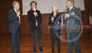 da sinistra: Giletti, Fiorello, Giannini e Capolupo