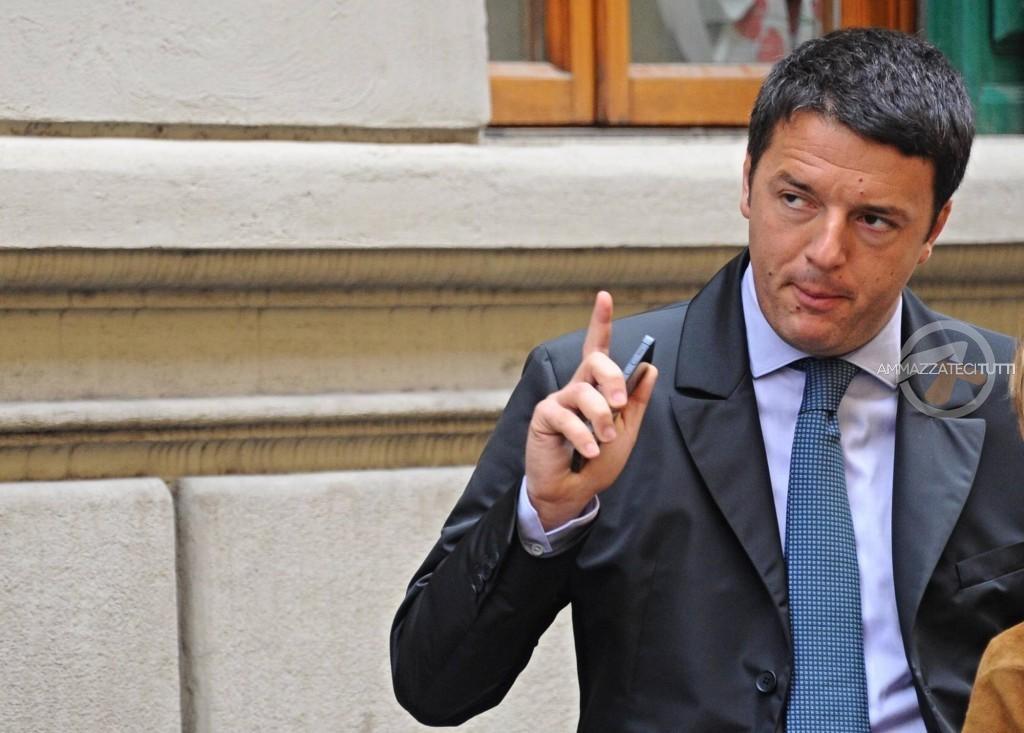 """Il presidente del Consiglio Matteo Renzi: """"a Roma uno schifo"""""""