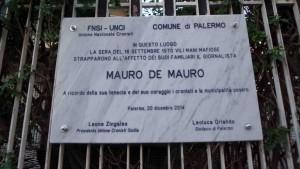 La lapide scoperta oggi a Palermo