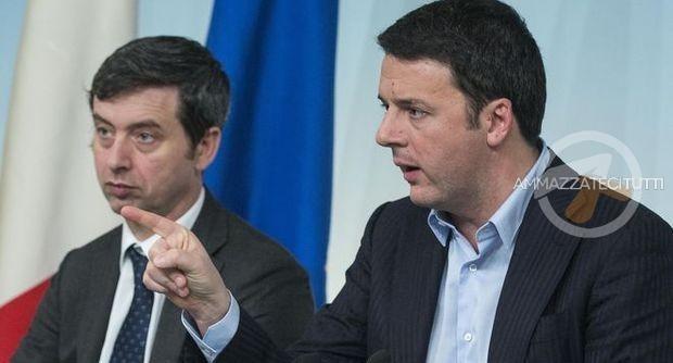 Il premier Renzi ed il ministro della Giustizia Orlando ieri in conferenza stampa a Palazzo Chigi