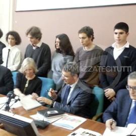 Sabelli, Giannini, Cantone e Roberti al Ministero dell'Istruzione
